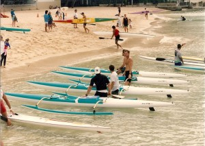 The Lanikai Men's Crew training on Cudas